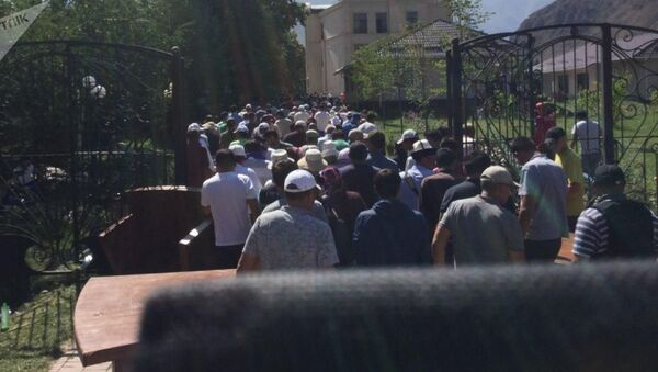 Ситуация у дома Атамбаева - Sputnik Абхазия