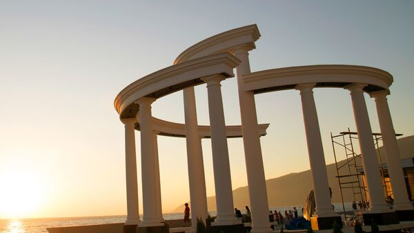 Новая колоннада в Гагре - Sputnik Абхазия