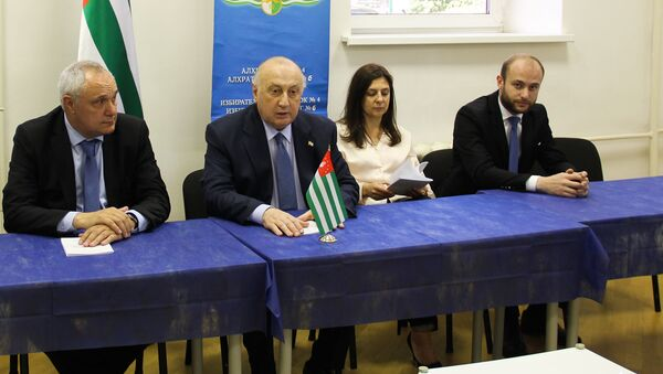 Игорь Ахба и Беслан Кобахия - Sputnik Абхазия