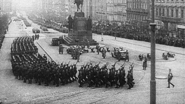 Гитлеровские войска на Вацлавской площади Праги - Sputnik Абхазия