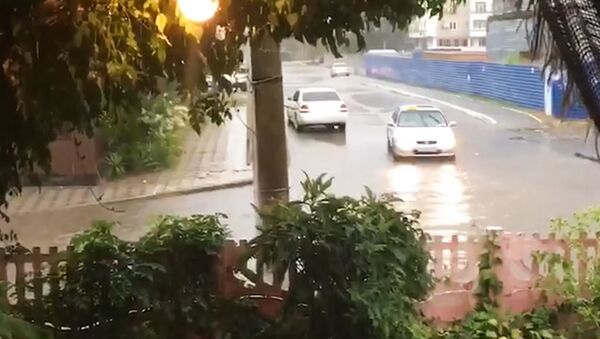 Дождь в Пицунде  - Sputnik Абхазия