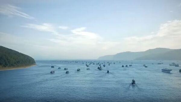 Сотни иностранных кораблей покидают бухту Ольга в Приморье - Sputnik Абхазия