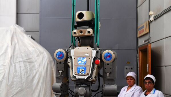 Робот Федор после полета на МКС - Sputnik Аҧсны