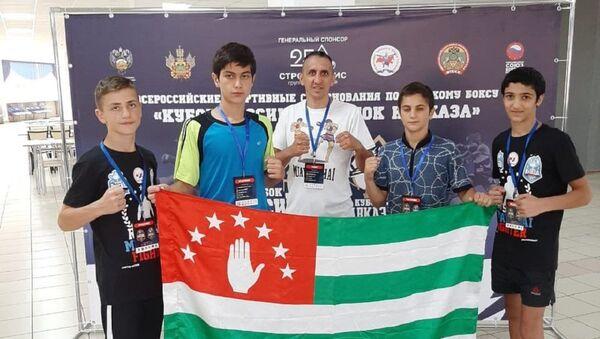 Российские тайбоксеры, которые выступят в составе сборной Абхазии на Кубке Кавказа в Краснодаре - Sputnik Абхазия