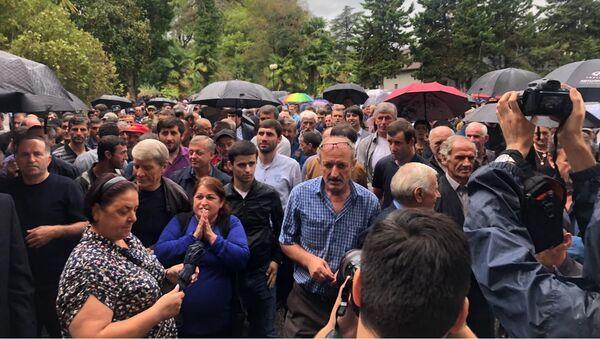 Митинг сторонников Рауля Хаджимба, 17 сентября 2019 - Sputnik Абхазия