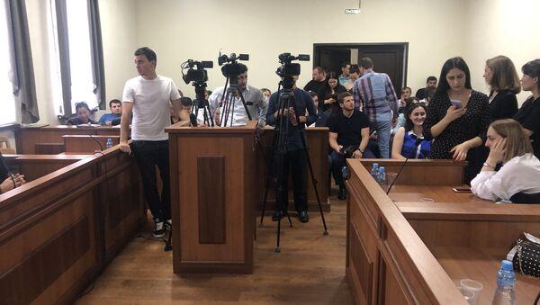 Журналисты во время заседания Верховного суда, 20 сентября 2019 - Sputnik Абхазия