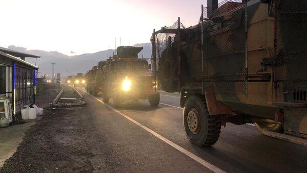 Турецкая военная техника в городе Килис недалеко от границы с Сирией, архивное фото - Sputnik Абхазия