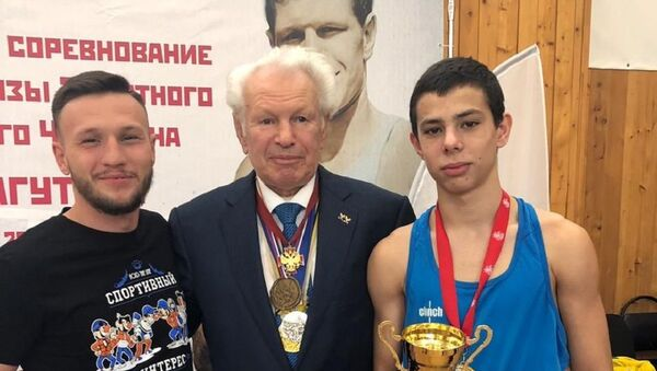 Боксер Анри Аршба на турнире Бориса Лагутина в Москве  (справа) - Sputnik Абхазия