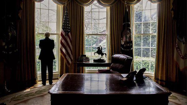 Президент США Дональд Трамп в Овальном кабинете Белого дома - Sputnik Абхазия