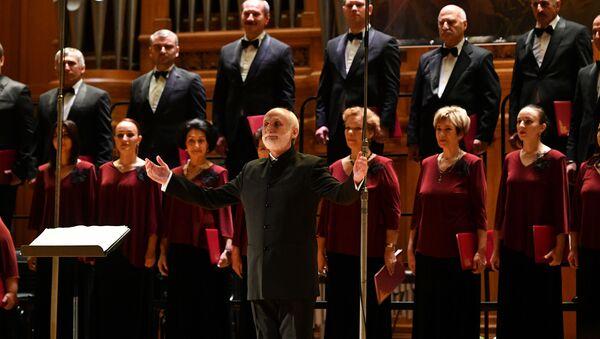 Выступление Абхазской государственной хоровой капеллы  в Большом зале Московской консерватории имени Чайковского - Sputnik Аҧсны
