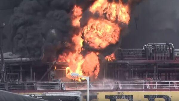 Взрыв произошёл на борту танкера с нефтепродуктами в Южной Корее - Sputnik Абхазия