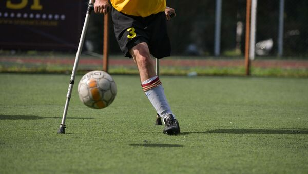 Турнир по мини-футболу среди инвалидов-ампутантов - Sputnik Аҧсны