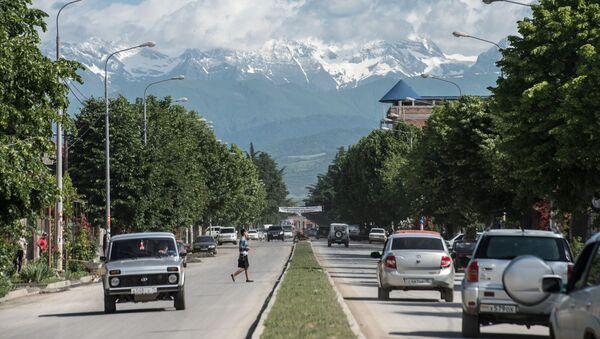 Вид на одну из городских улиц в Цхинвале. - Sputnik Абхазия