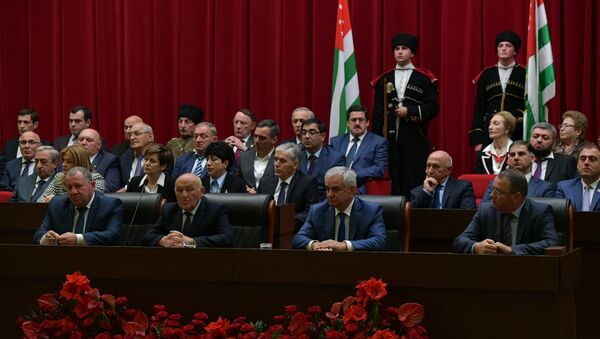 Инаугурация президента Абхазии Рауля Хаджимба - Sputnik Абхазия