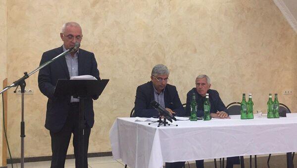 Собрание расширенного актива политической партии Амцахара - Sputnik Абхазия