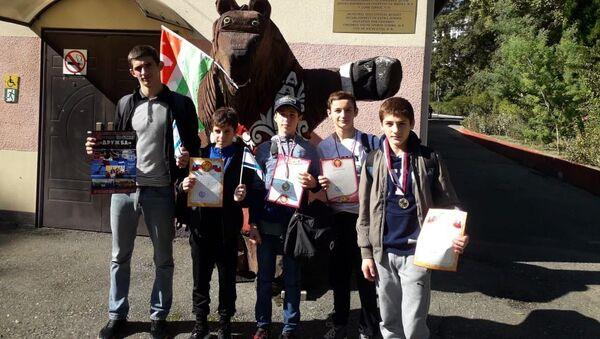 Боксеры из Абхазии, выступившие на турнире Дружба в Дагомысе  - Sputnik Абхазия