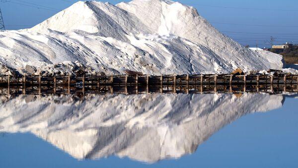 Отвал соли на озере Сасык-Сиваш под Евпаторией - Sputnik Абхазия