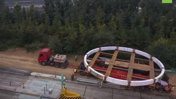 150 тонн и 15,6 метра в диаметре: в Китае начали транспортировку кольца для ядерного реактора - Sputnik Абхазия
