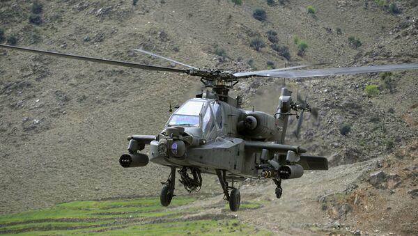Американский боевой вертолет AH-64 Аpache. Архивное фото - Sputnik Абхазия