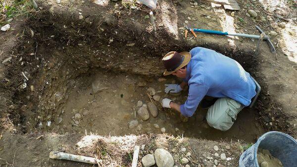 Дмитрий Авидзба на раскопках у села Хиацха - Sputnik Абхазия