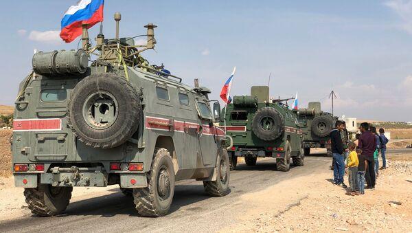 Военная полиция РФ на северо-востоке провинции Алеппо в Сирии - Sputnik Абхазия