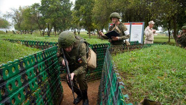 С новобранцами российской военной базы ЮВО в Абхазии стартовал курс общевойсковой подготовки - Sputnik Абхазия