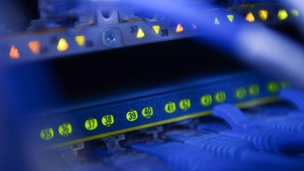 Сетевое оборудование в серверной. - Sputnik Абхазия