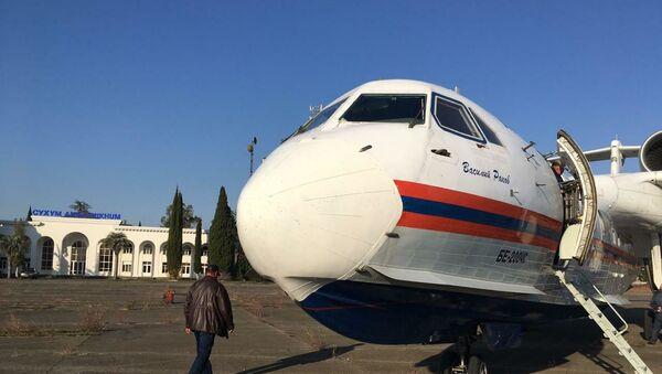 Самолет Бе-200 прибыл в Абхазию  - Sputnik Абхазия