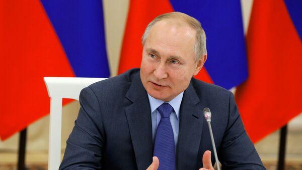 Рабочая поездка президента РФ В. Путина в Кабардино-Балкарию - Sputnik Абхазия