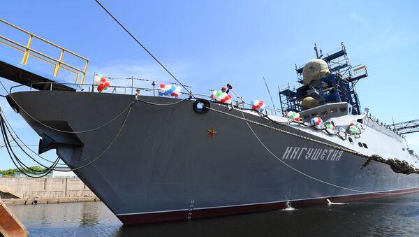 Спуск на воду малого ракетного корабля  «Ингушетия» в Казани - Sputnik Абхазия