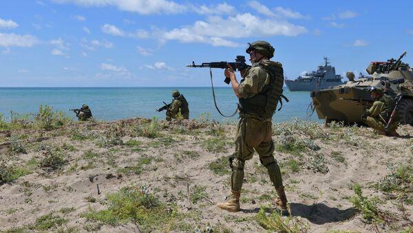 Тактические учения на российской военной базе в Абхазии - Sputnik Аҧсны