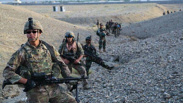 Военнослужащие армии США во время учений в Афганистане. Архивное фото - Sputnik Абхазия
