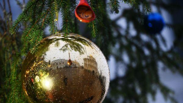 Украшение новогодней елки на Соборной площади Кремля - Sputnik Аҧсны
