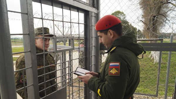 Военная полиция ЮВО в Абхазии  - Sputnik Аҧсны