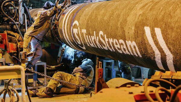 Строительство газопровода Турецкий поток. Архивное фото - Sputnik Абхазия
