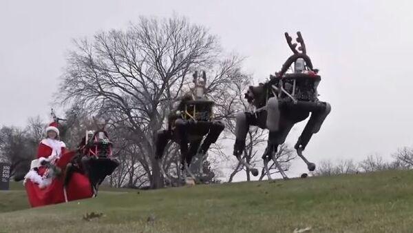 Компания Boston Dynamics заменила оленей Санта Клауса на роботов - Sputnik Абхазия