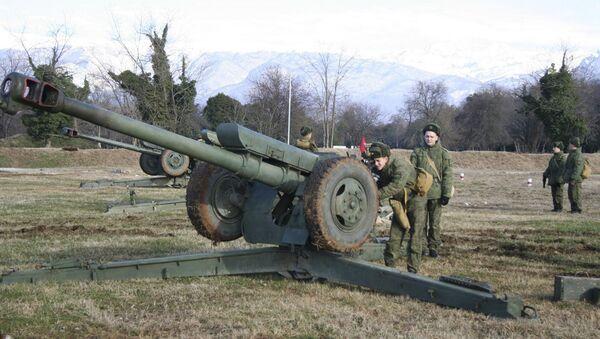 Личный состав российской военной базы  ЮВО в Абхазии  - Sputnik Аҧсны