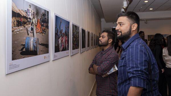 Открытие выставки победителей конкурса им. А. Стенина в Нью-Дели - Sputnik Аҧсны