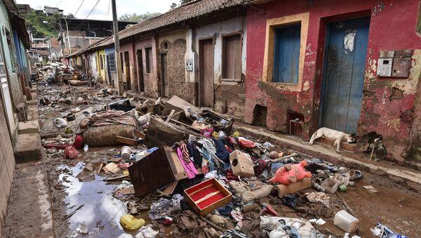 Разрушения, оставленные наводнением в бразильском Рапозусе - Sputnik Абхазия