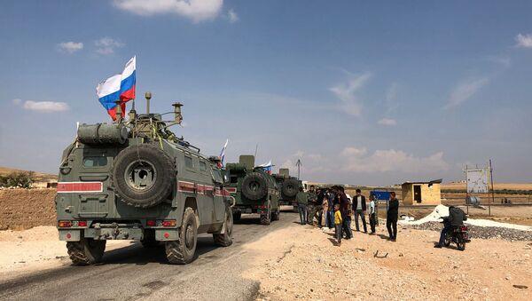 Военная полиция РФ на северо-востоке провинции Алеппо в Сирии - Sputnik Аҧсны