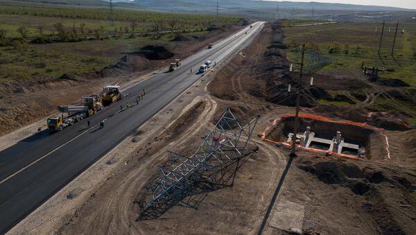 Строительство автомобильных подходов к мосту через Керченский пролив - Sputnik Аҧсны