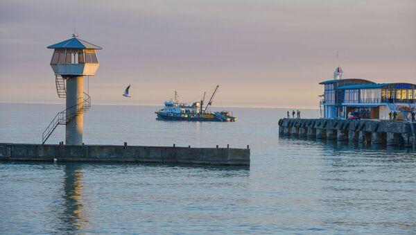 Сейнер в порту Сухума - Sputnik Абхазия