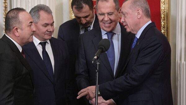 Президент РФ В. Путин встретился с президентом Турции Р. Эрдоганом - Sputnik Абхазия