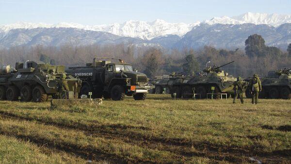 Разведчики ЮВО в горах Абхазии приступили к выполнению противодиверсионных задач - Sputnik Абхазия