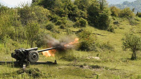 Артиллеристы российской военной базы ЮВО в Абхазии приступили к проведению боевых стрельб - Sputnik Абхазия