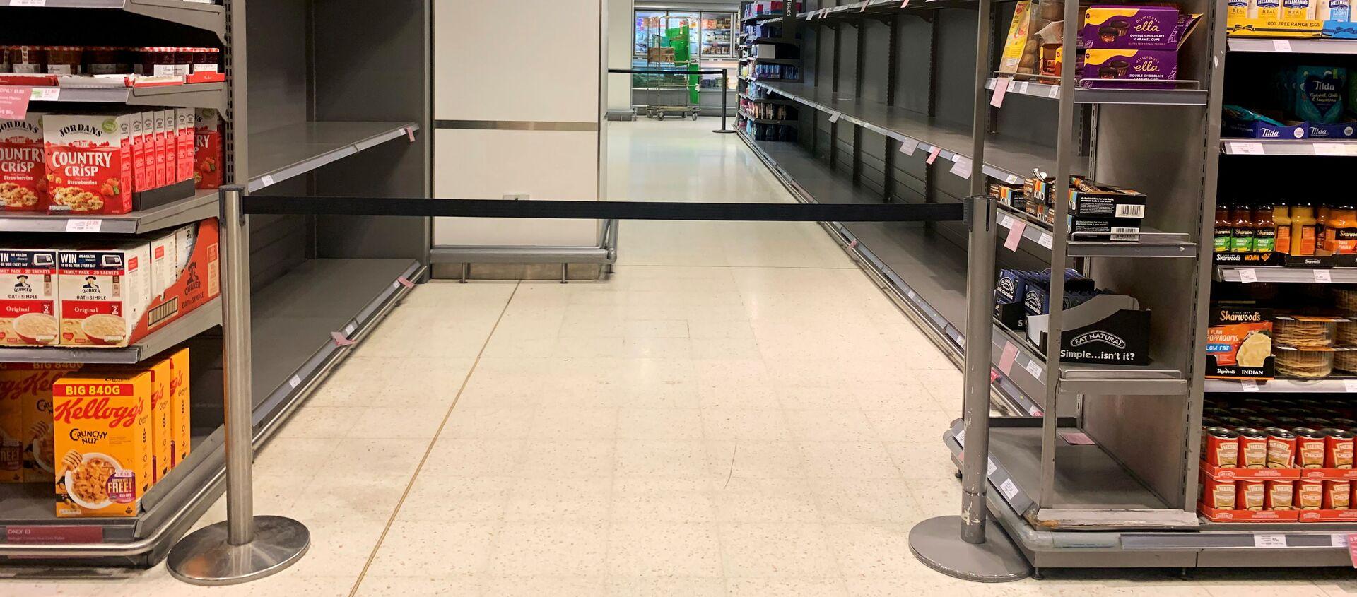 Пустые полки в продуктовом магазине в Лондоне - Sputnik Абхазия, 1920, 29.09.2021