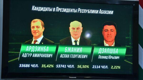 Первые официальные результаты выборов президента в Абхазии - Sputnik Аҧсны