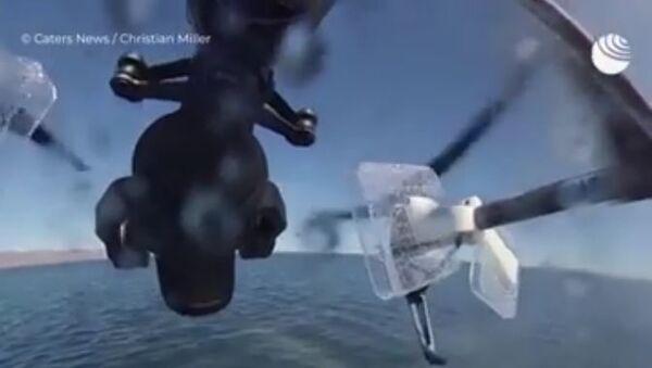 Беспилотник попал под фонтан кита - Sputnik Абхазия