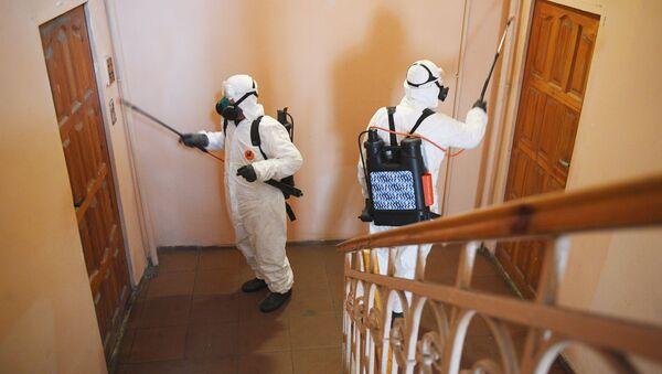 Дезинфекция жилых домов в связи с коронавирусом - Sputnik Аҧсны