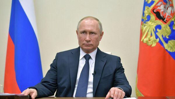Президент РФ В. Путин выступил с обращением к гражданам - Sputnik Абхазия